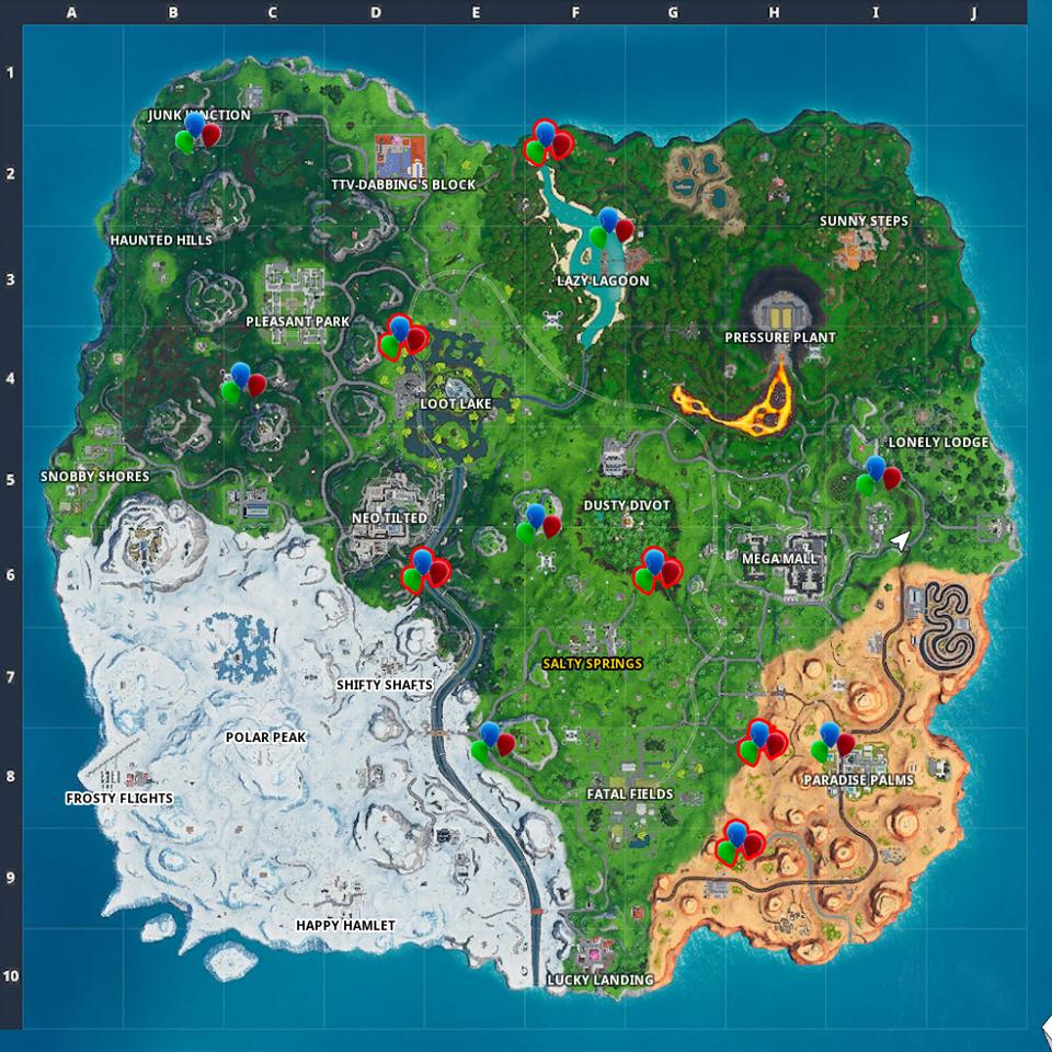 Fortnite\u0027 Party Balloon Locations Where To Pop Decorations