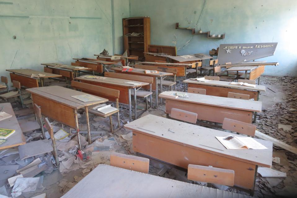 Chernobyl abandoned room