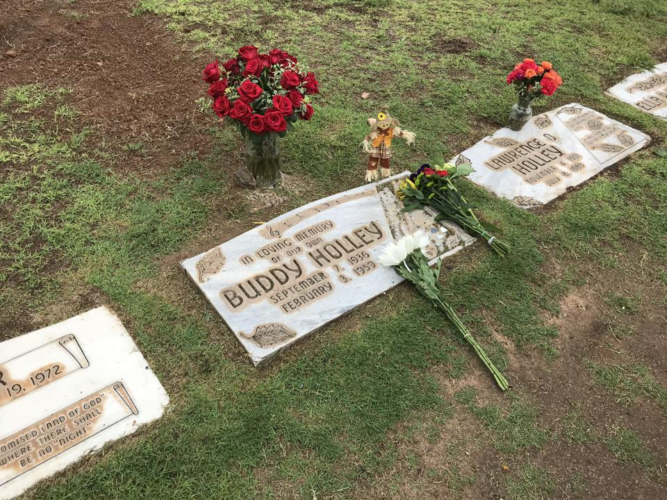 Buddy Holly's grave at Lubbock City Cemetery