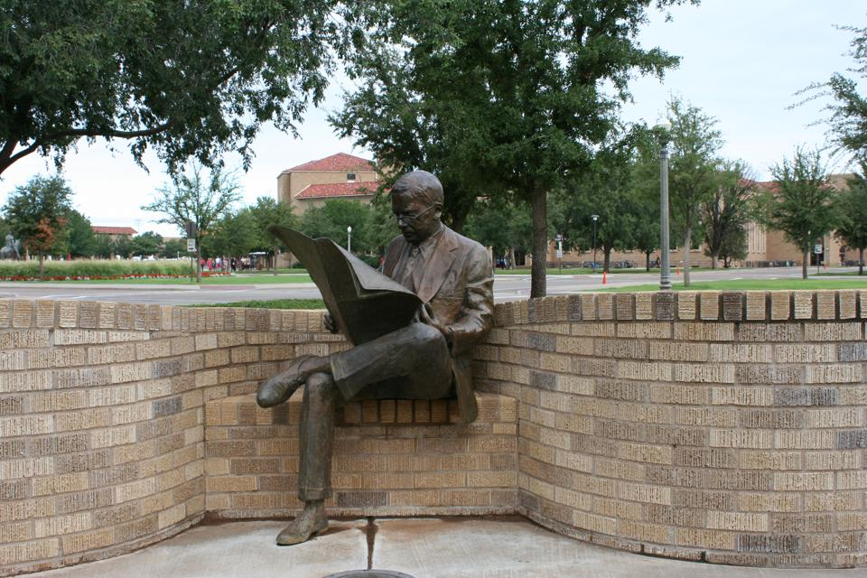 The campus of Texas Tech is peppered with its Public Arts Collection.
