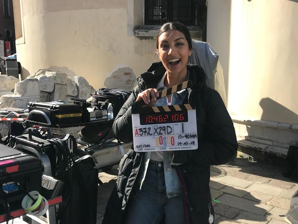 Zoha Rahman celebrates her last day on set.