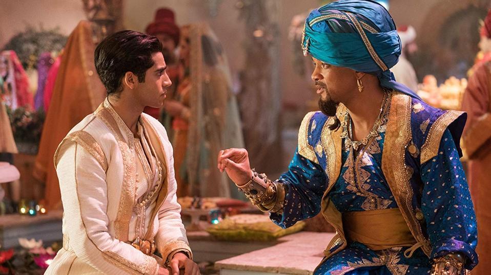 Mena Massoud and Will Smith in 'Aladdin'