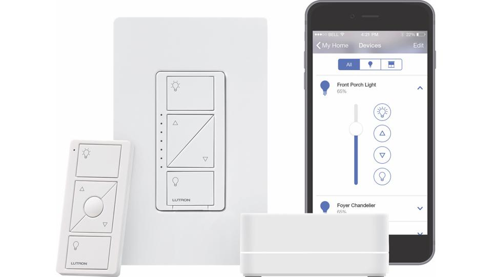 Lutron Caseta Wireless in-wall Dimmer with Smart Bridge and Remote