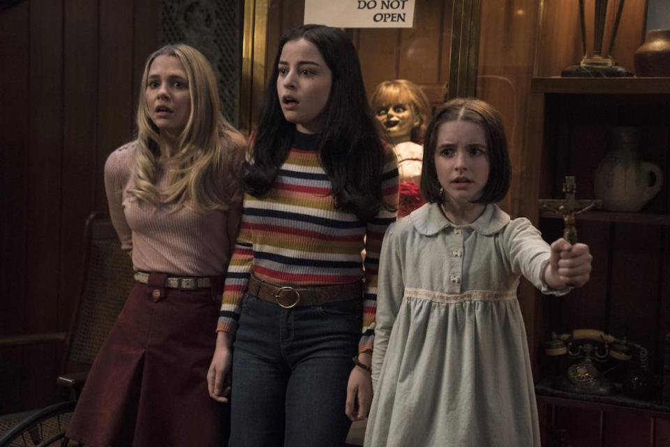 McKenna Grace, Madison Iseman and Katie Sarife in 'Annabelle Comes Home'