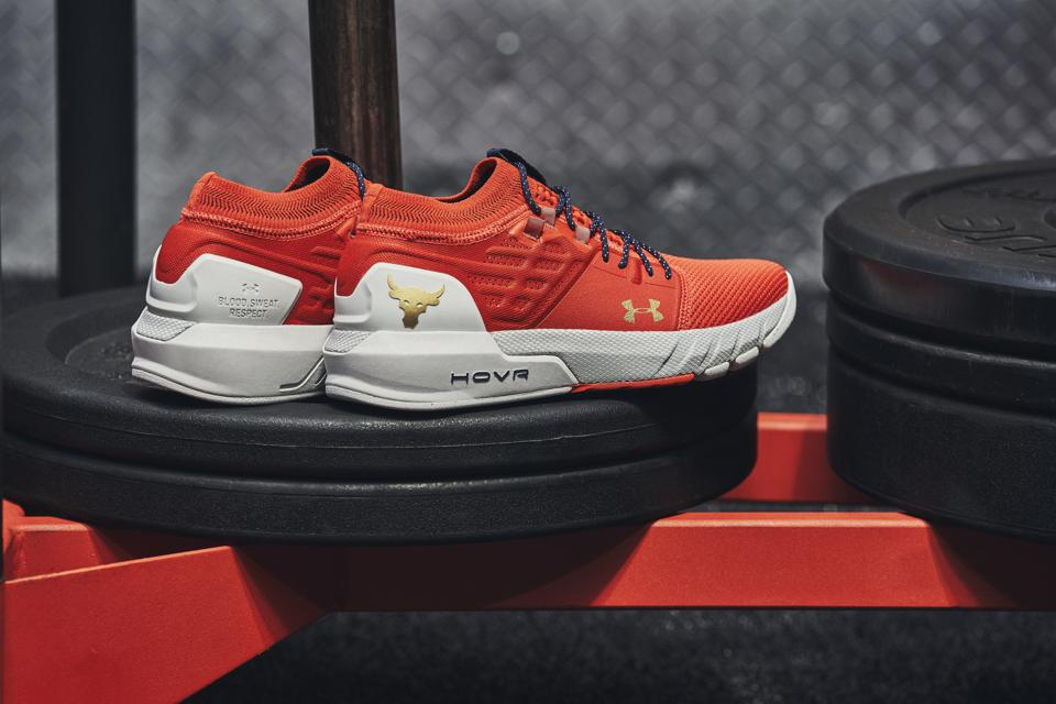 The PR2 shoe from Dwayne Johnson's Project Rock collection with Under Armour