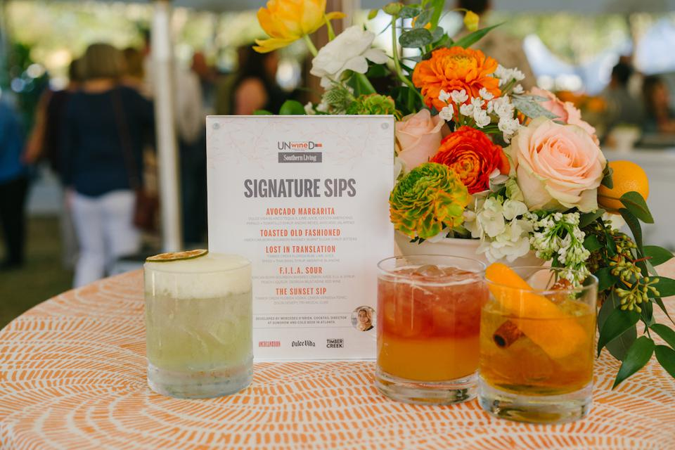 Signature cocktails at the Southern Living kickoff party