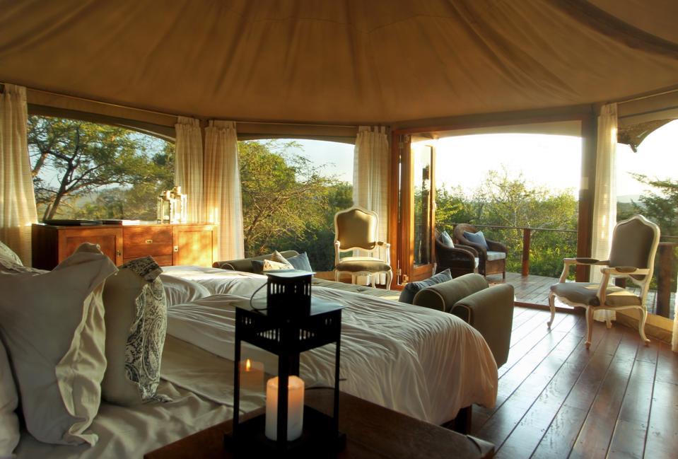 One of 15 luxury tents at Thanda Safari