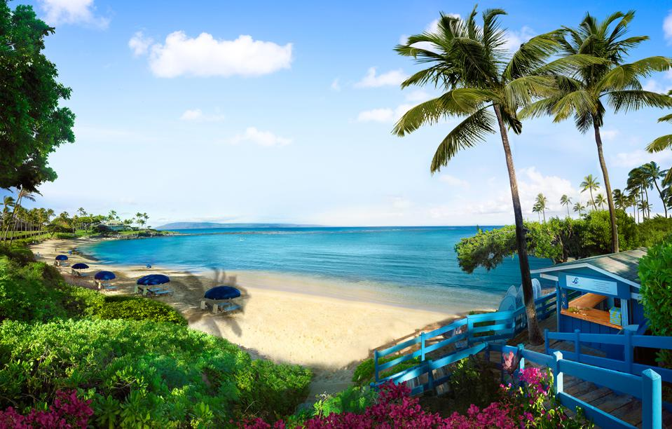 Montage Kapalua Bay offers five stunning white sand beaches