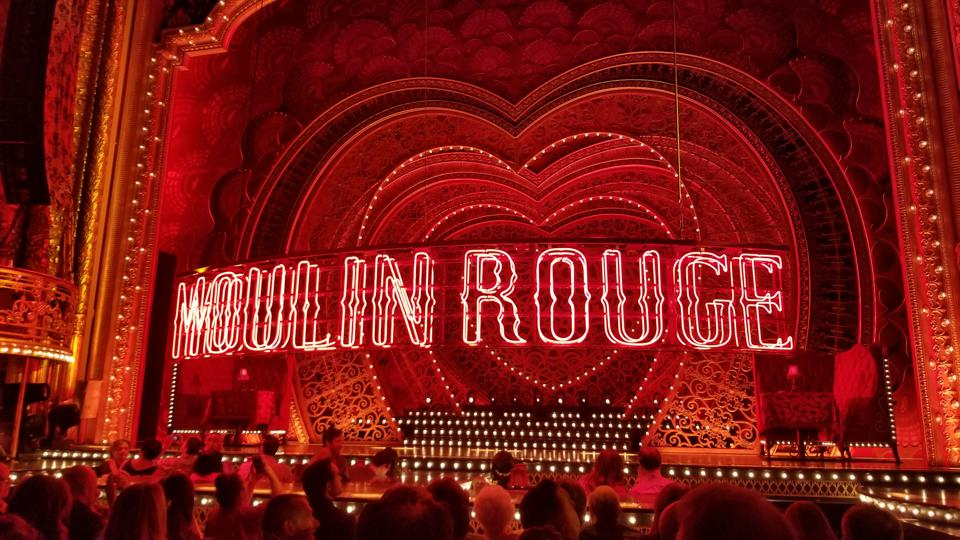 The 'Moulin Rouge' stage, in Boston's Emerson Colonial Theatre.