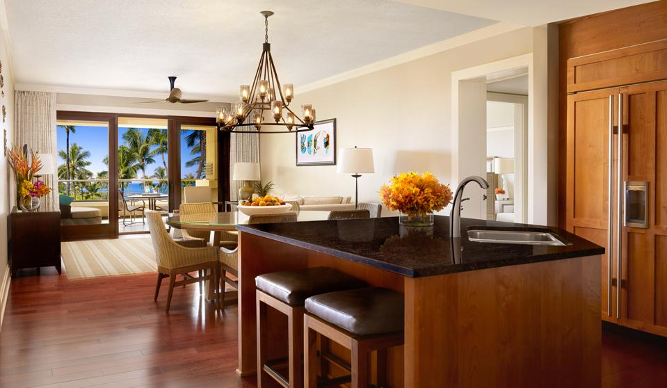 Montage Residences Kapalua Bay's new collection of residences feature open kitchens with high-end appliances and design details that embrace Island-inspired living and relaxation.