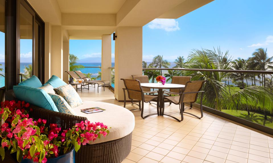 Each of the newly released residences at Montage Residences Kapalua Bay features a private lanai with ocean views that is ideal for entertaining.