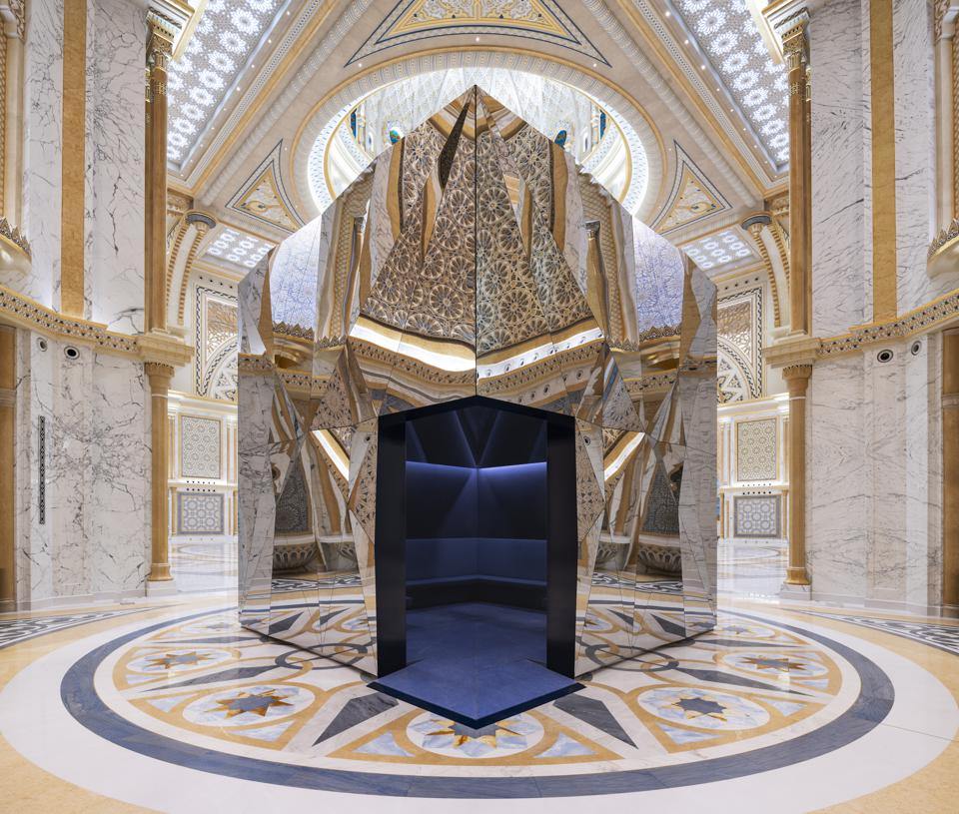 The Great Hall at Qasr al Watan in Abu Dhabi.