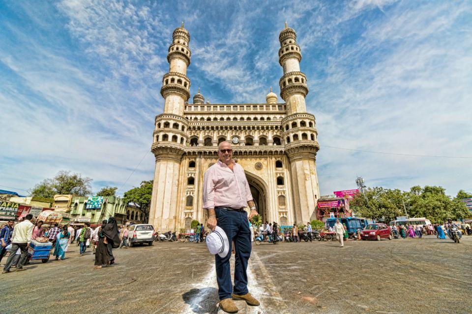 Andrew Zimmern in Hyderabad, India