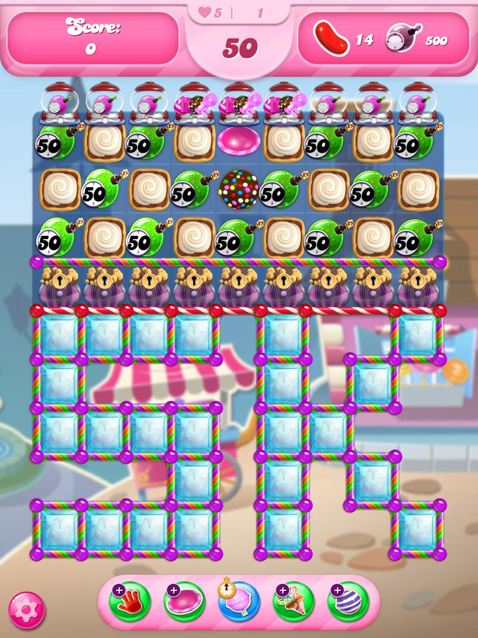 An in-game view of Candy Crush's historic level 5000.