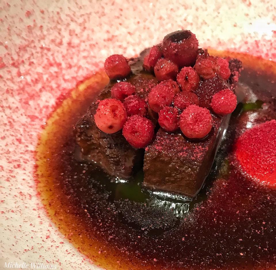 La Degustation beef tongue, cranberries, thyme
