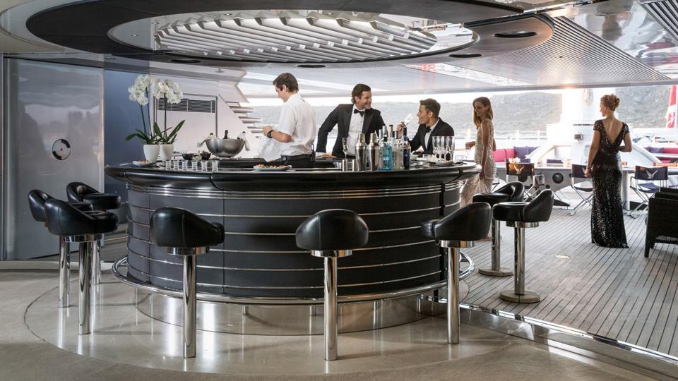 The bar aboard the Maltese Falcon is legendary.