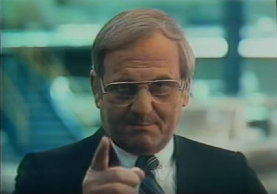 Iacocca appeared in dozens of Chrysler ads over the years.