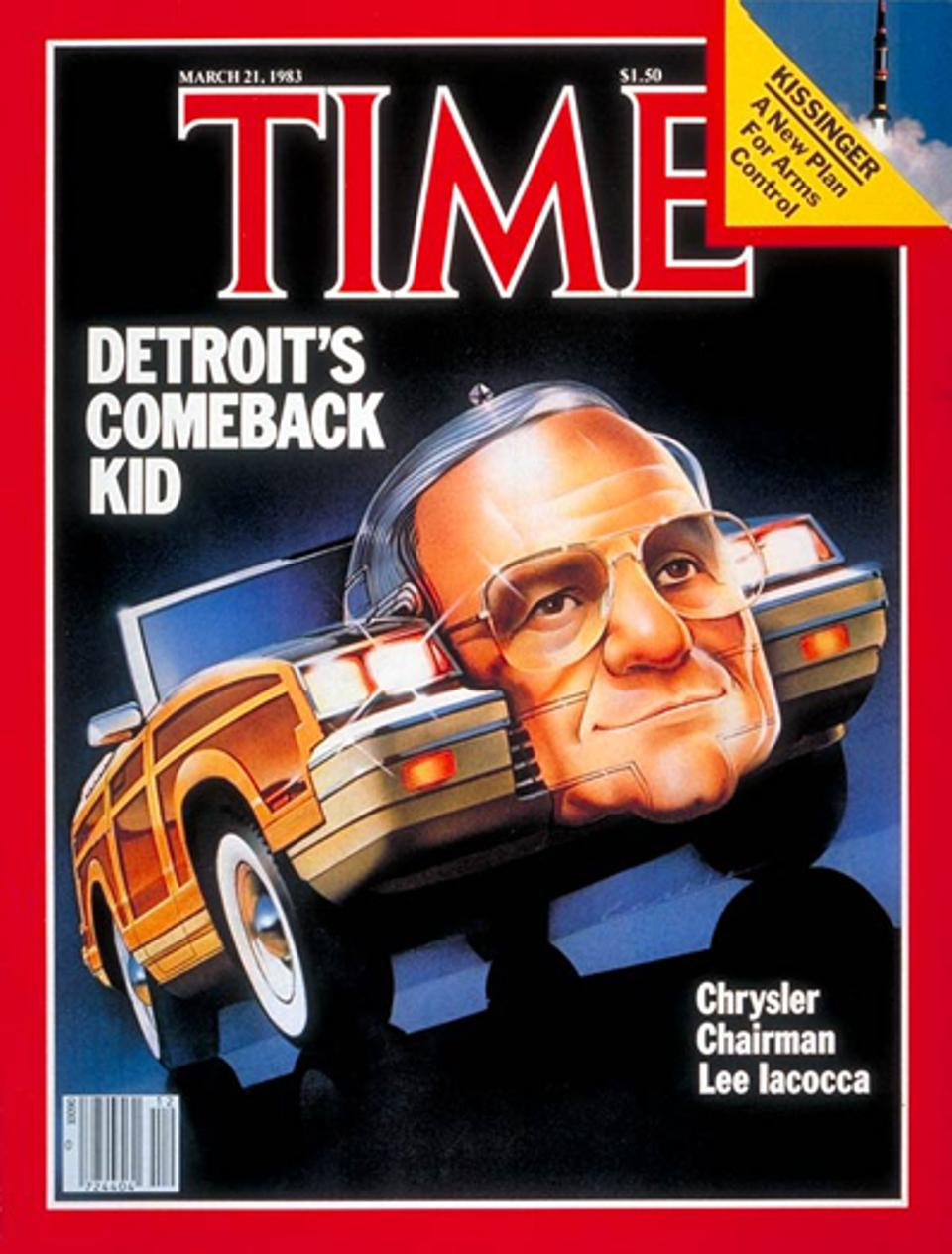Lee Iacocca was on the covers of most major magazines over ten years.