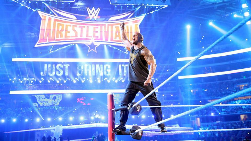 The Rock at WrestleMania 32