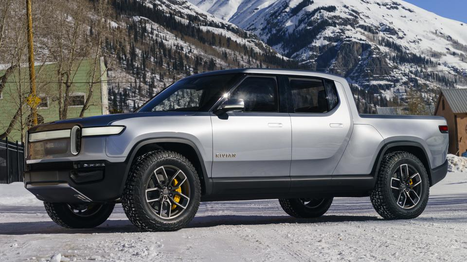 The full-electric Rivian R1T pickup truck is expected to debut for the 2020 model year.