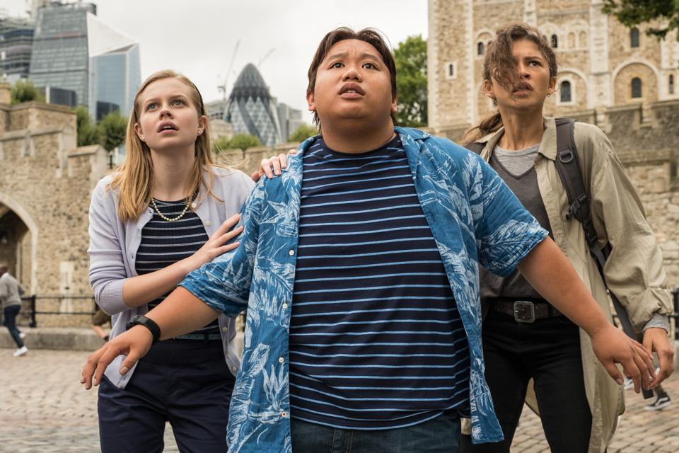 Angourie Rice, Jacob Batalon, and Zendaya star in Sony-Marvel's ″Spider-Man: Far From Home″