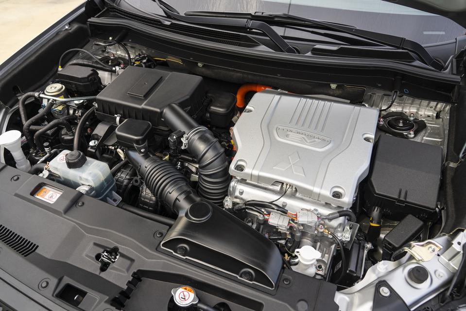 Under the hood of the PHEV.