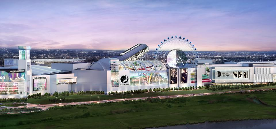 Artist's rendering of the American Dream mall in the Meadowlands of New Jersey