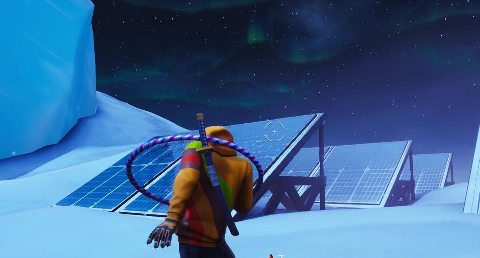 Solar Array Snow