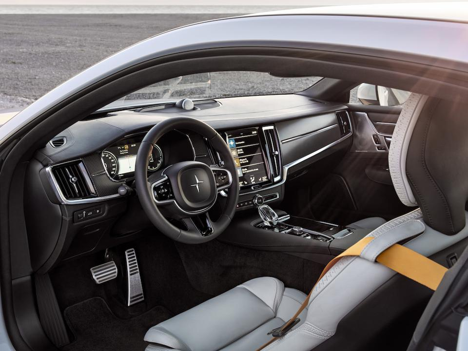 The Polestar 1 cabin is uncluttered and comfortable and a perfect expression of premium automotive design
