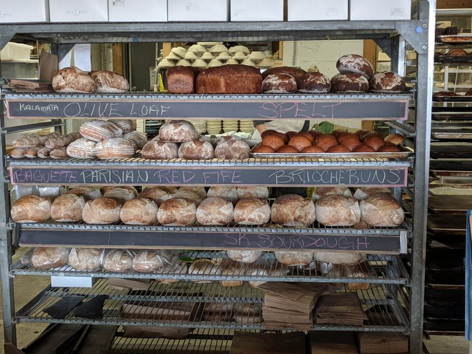bread at a bakery