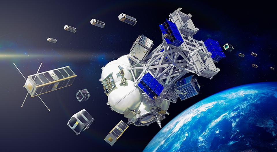 Artist's conception of satellites sent aloft by Exolaunch.