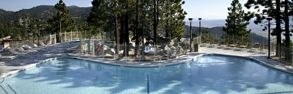 Ridge Tahoe Resort features a pool and mountain vistas.