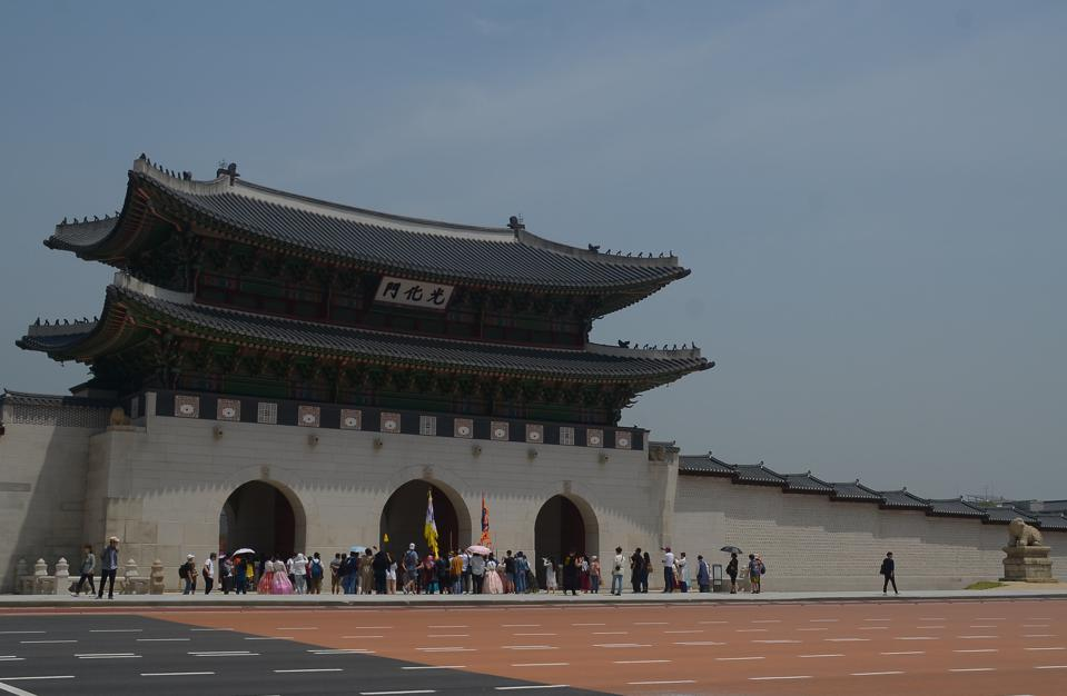 Gyeongbokgung Palace is Seoul's oldest and largest.