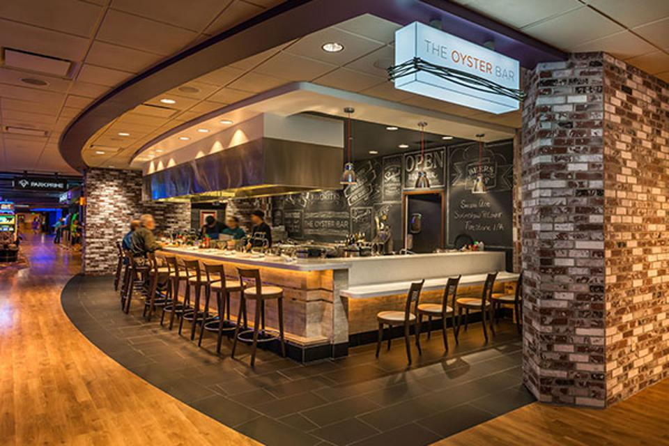 The Oyster Bar welcomes guests at Tahoe's Hard Rock Hotel & Casino.