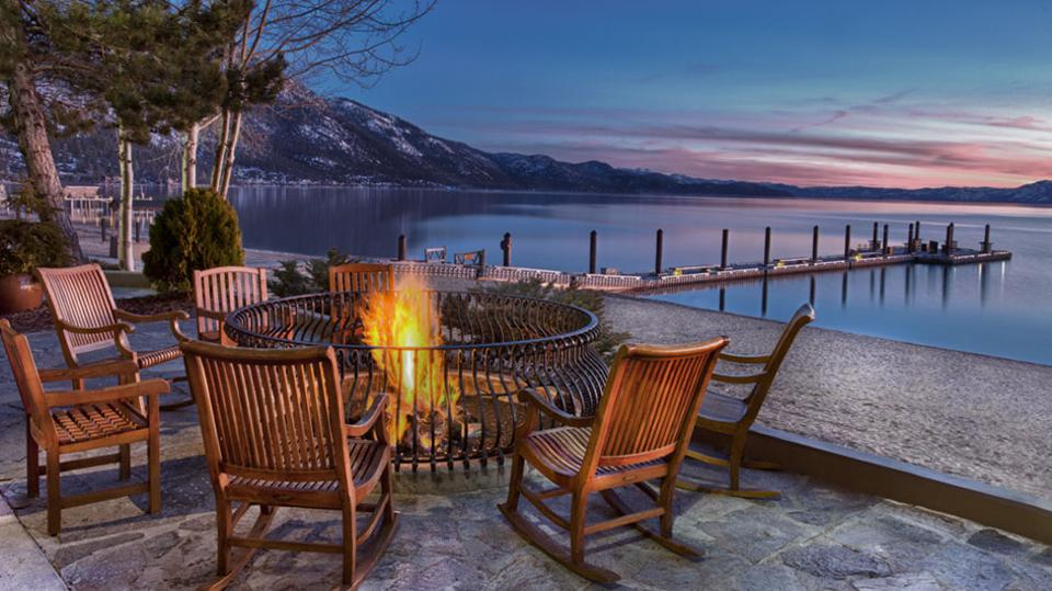 Guests can relax lakeside at Hyatt Regency Lake Tahoe.
