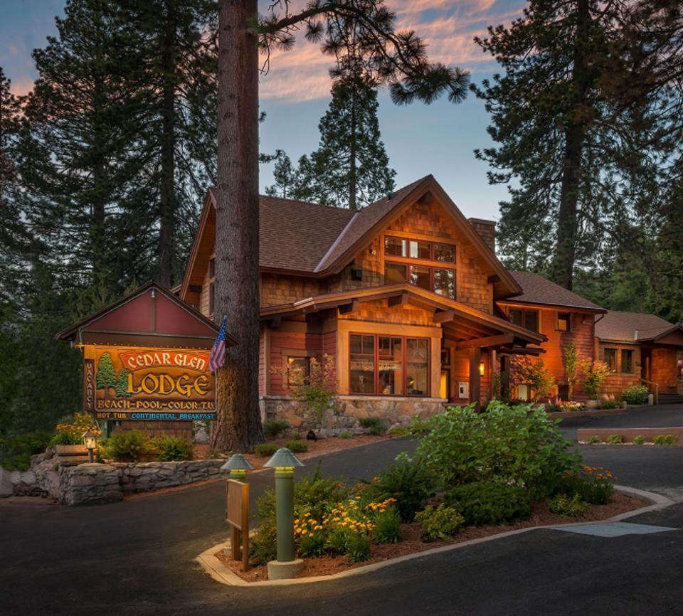 The Cedar Lodge utilizes reclaimed wood and hand-crafted furniture.