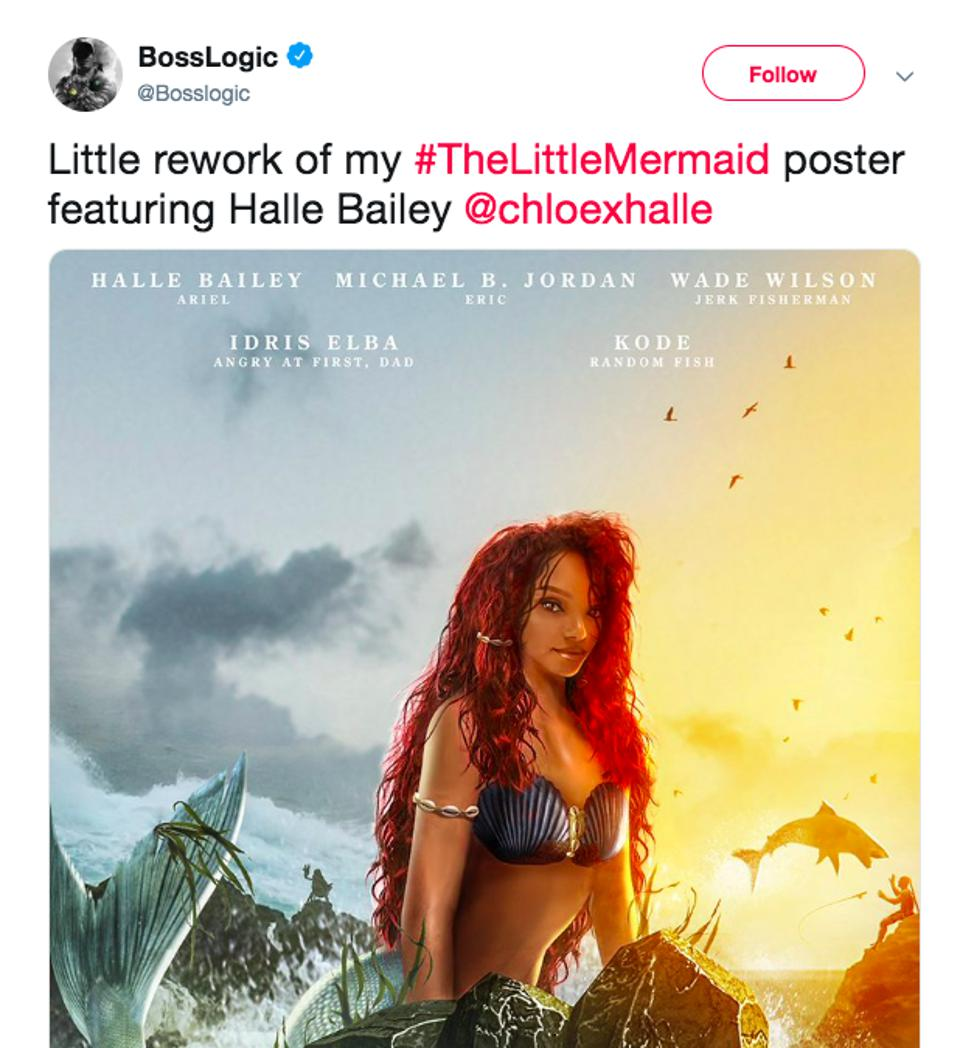 One fan's vision of Hailey Bailey as Ariel.