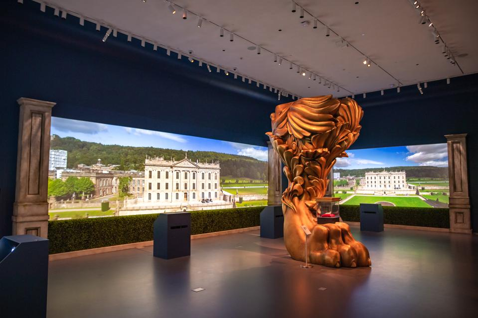 'Treasures from Chatsworth' installation view at Sotheby's New York.