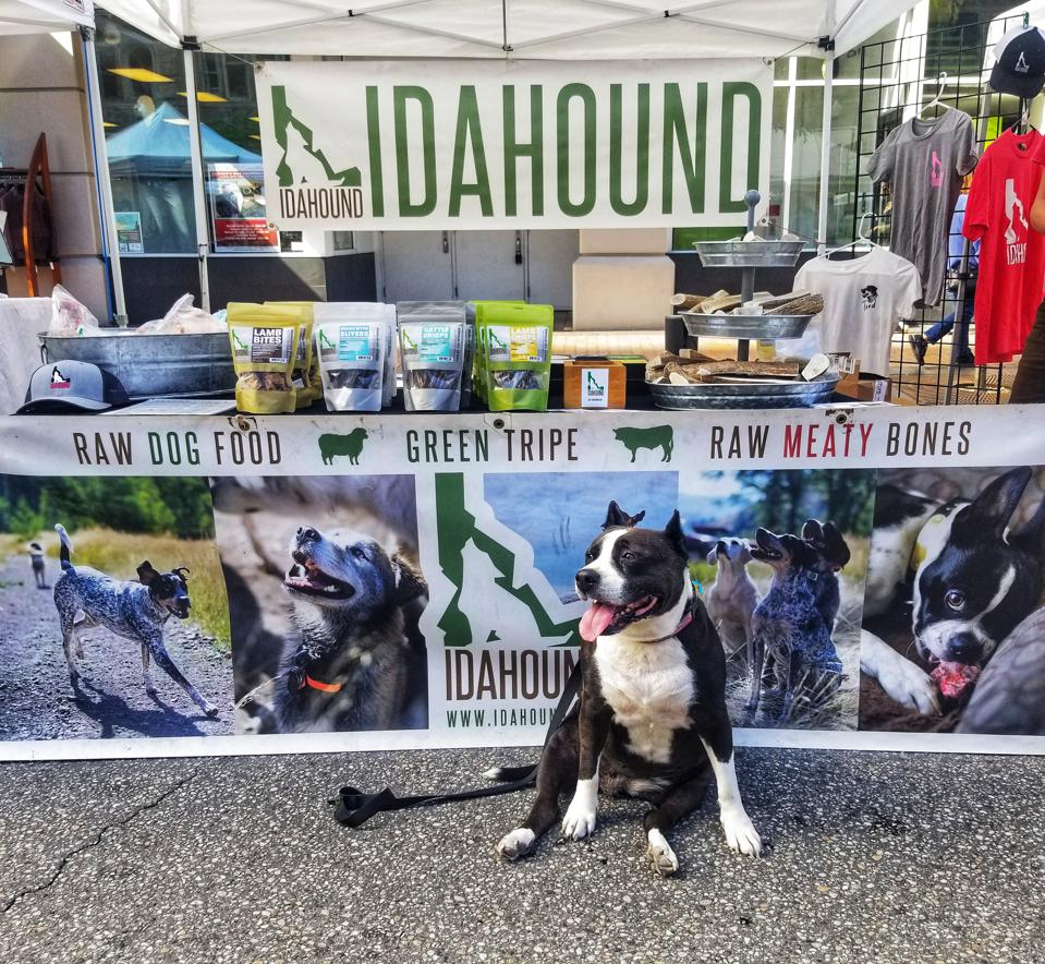The Idahound stand at Capital City Public Market in Boise, Idaho.