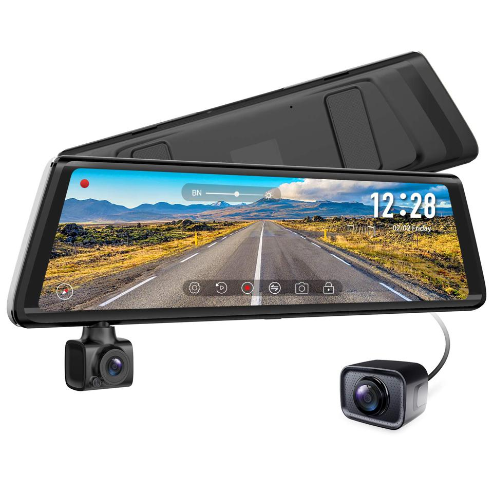 Auto Vox A1 Dual Rearview Mirror Style Dash Cam