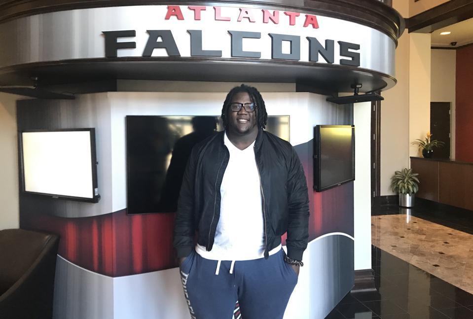 Atlanta Falcons offensive lineman Jamon Brown.