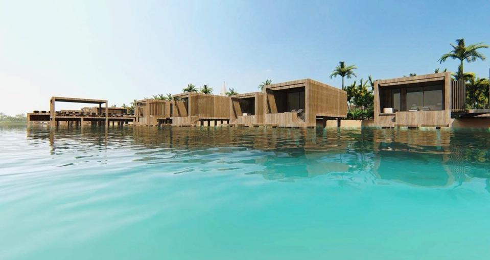 Overwater villa rendering at illa Bimini Resort & Residences