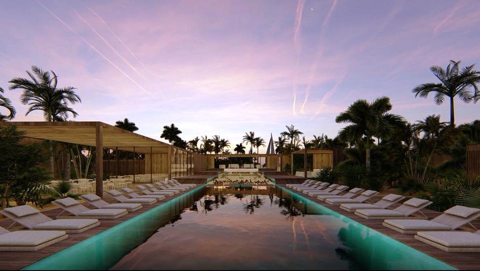 Resort swimming pool at illa Bimini Resort & Residences