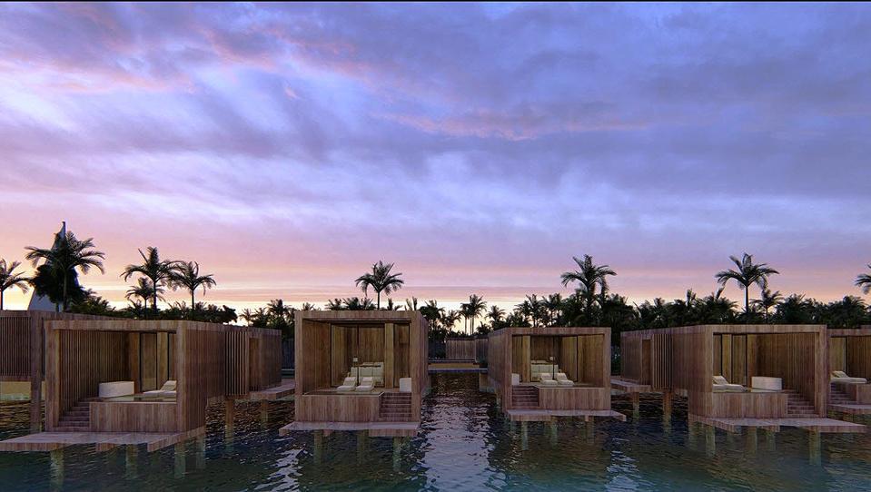 Overwater villas at illa Bimini Resort & Residences