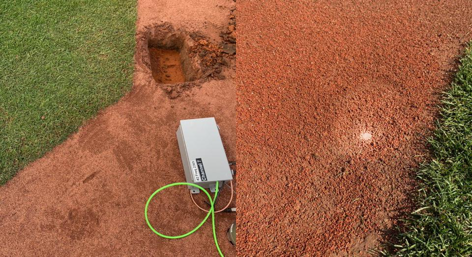 Dirt cam at the MLB All-Star Game