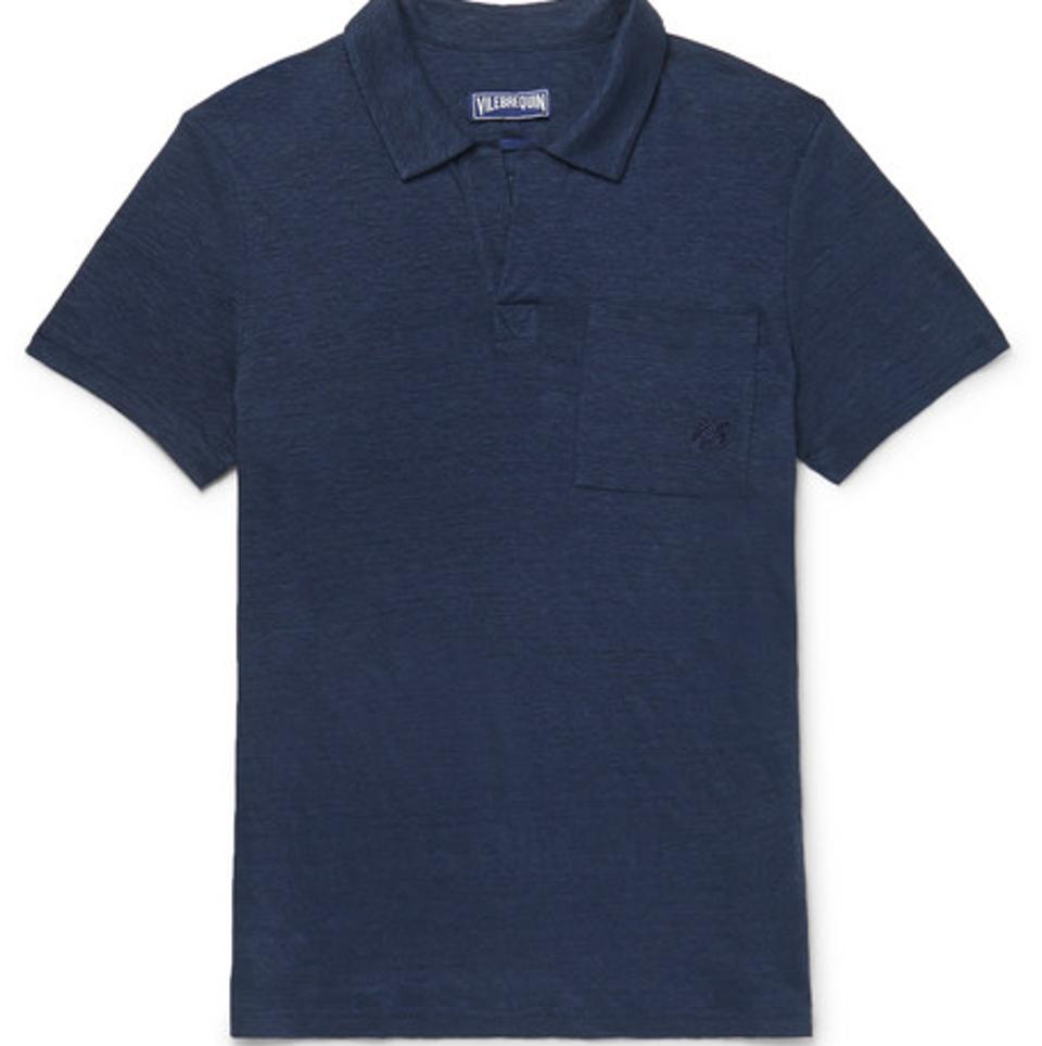 Vilebrequin Pyramid Slim Fit Polo en lin