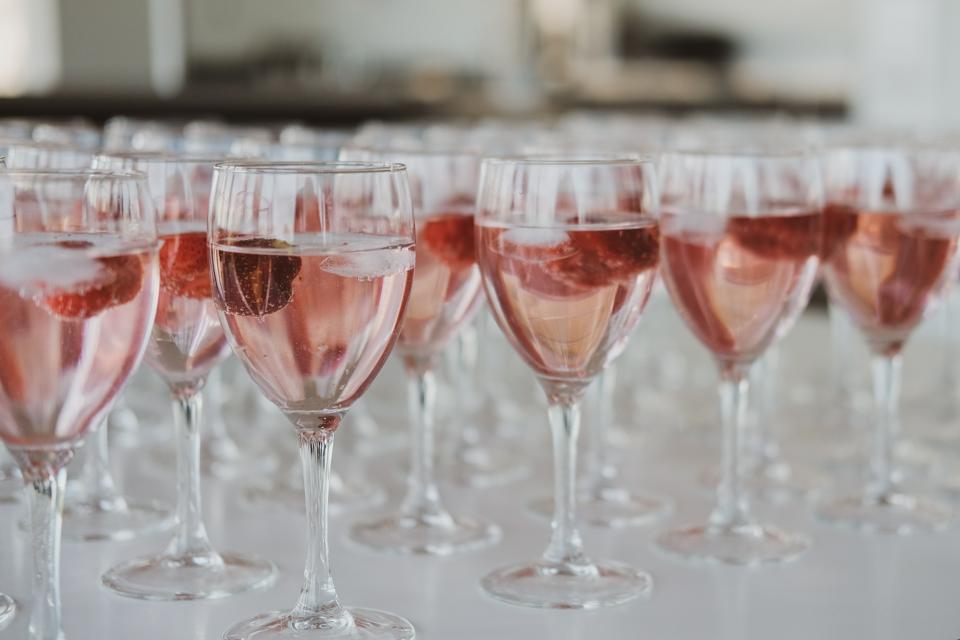 Rose-colored wine