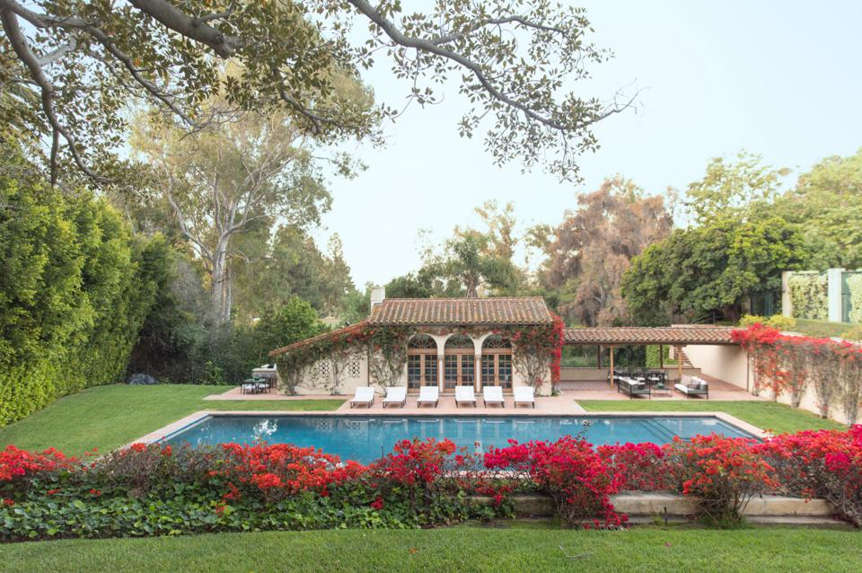 The pool was built by Olympic swimmer and actress Esther Williams.