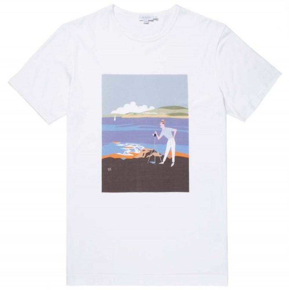 Sunspel Cotton Akira Sorimachi Print
