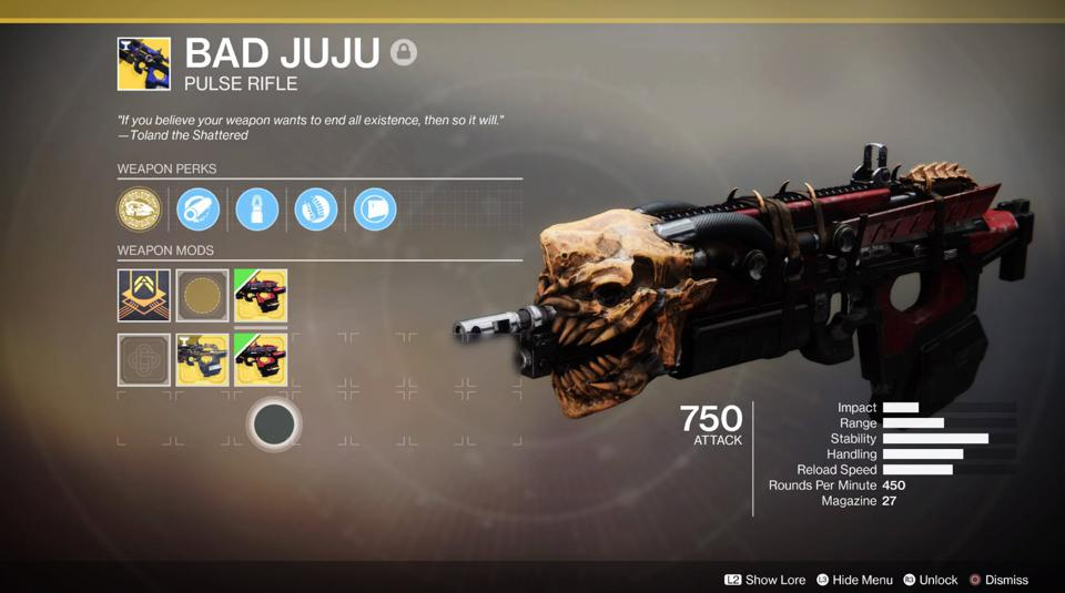 Is Destiny 2's Bad Juju Exotic Worth The Tribute Grind?